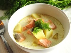 Рыбный суп со сливками в мультиварке