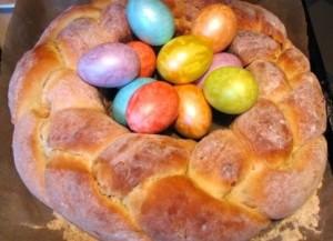 сладкий пасхальный хлеб