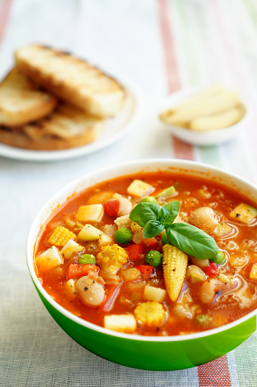 Итальянский суп Минестроне с овощами
