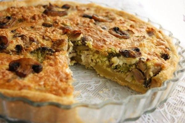 Закрытый пирог с курицей и грибами рецепт 196