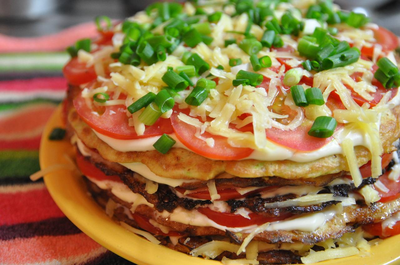 Блинный закусочный торт рецепт пошагово